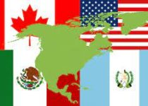How many countries in continent of the north America?