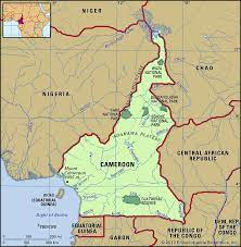 Cameroon country in world map