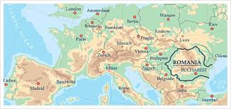 What is Romania famous for map
