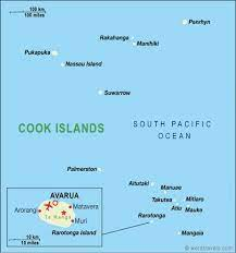 The cook islands maps