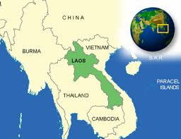 what is Laos known for map