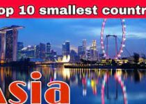 TOP 10 smallest countries OF Asia by area